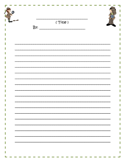 Write my primary writing paper with picture box
