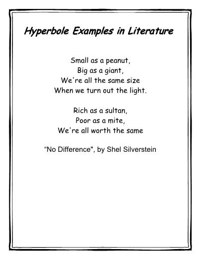 Figurative Language Hyperbole