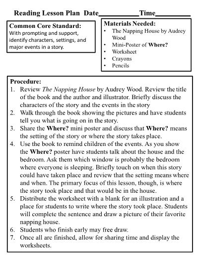 Lesson Plans - Kindergarten