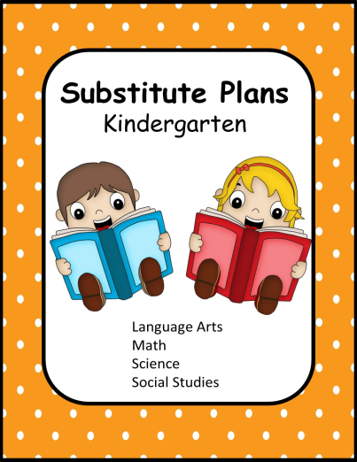 substitute lesson plans kindergarten