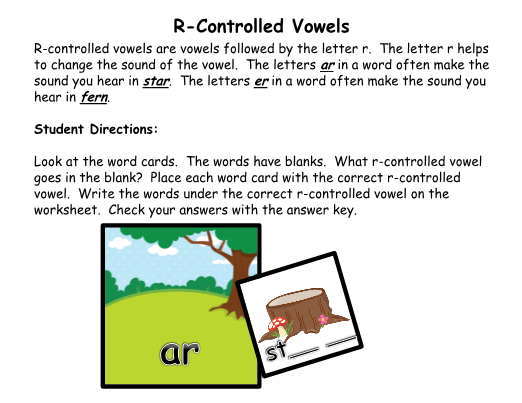 Controlled Vowels Woodland Animal Theme – R Controlled Vowels Worksheets