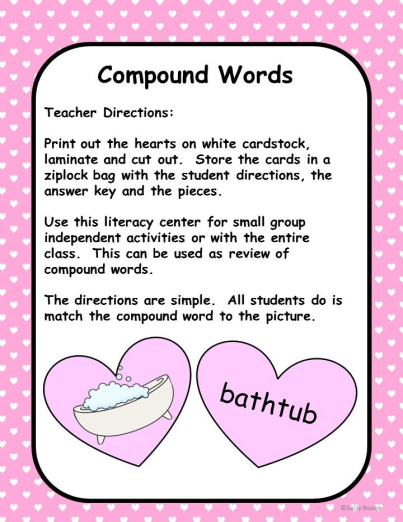 Compound Words - Valentine's Day Theme