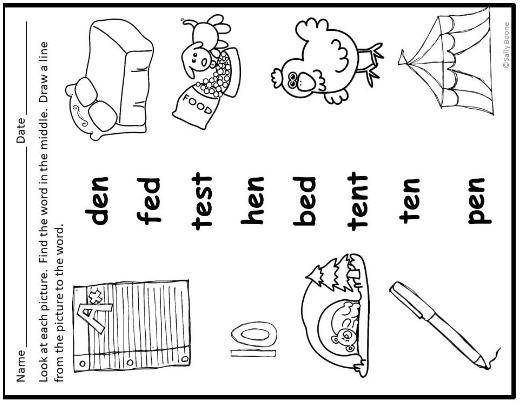Cvc Words Short E Teaching Resources Secret Code - Download Short Vowel E Worksheets For Kindergarten Gif