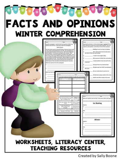 Fact And Opinion Comprehension With A Winter Theme
