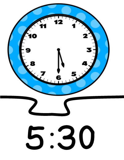 Image result for 5:30 clock  free clip art