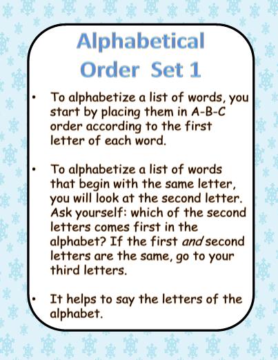 Alphabetical Order - Winter Theme