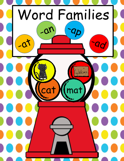 word families short a gumball theme