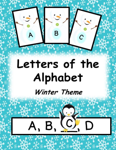 Letters Of The Alphabet Winter Christmas Theme