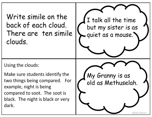 Figurative Language Similes And Metaphors Literacy Center