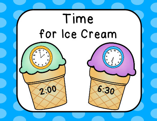 Time For Ice Cream Math Center With Worksheets