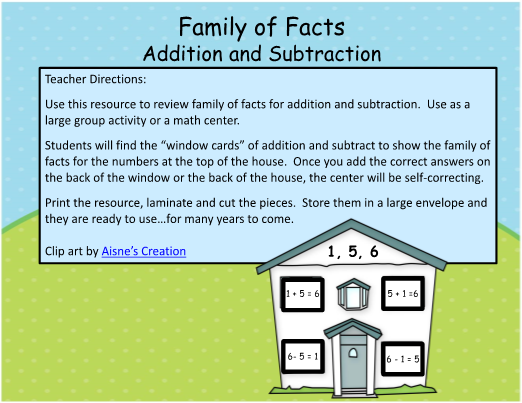 Family of Facts Math Center