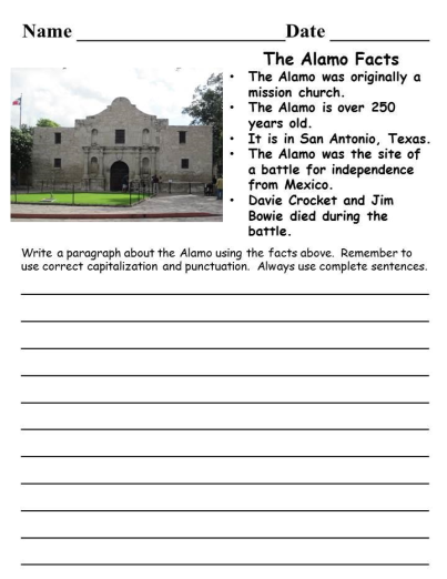texas writing prompts