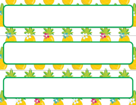 Teachers Welcome Letter Template Pinapple Theme on