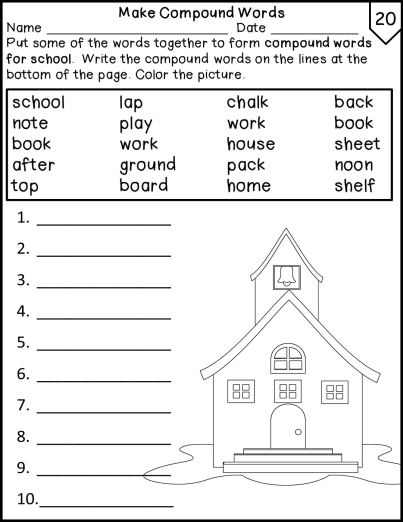 Back to School Worksheets Morning Work Print and G