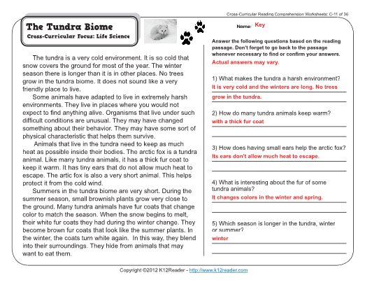Week 11 - Reading Comprehension – 3rd Grade
