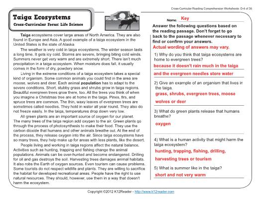 Week 4 Reading Prehension – 4th Grade