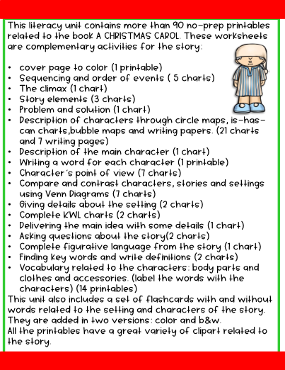 graphic regarding A Christmas Carol Worksheets Printable named A Xmas Carol -English Literacy Product 113 web pages