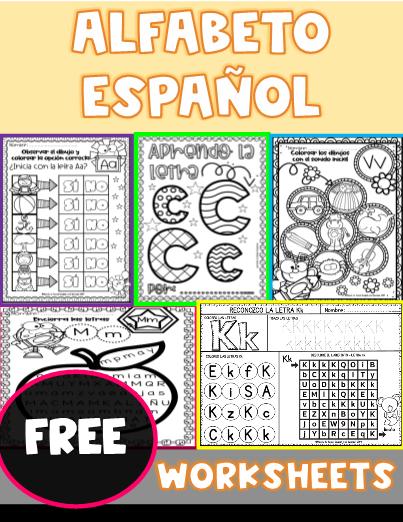 SPANISH ALPHABET - Worksheets