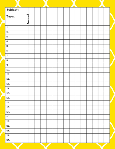 printable gradebook sheet