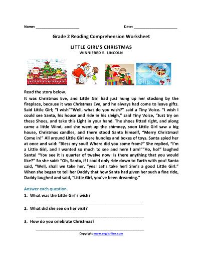 2nd Grade Reading Worksheets I TeacherSherpa