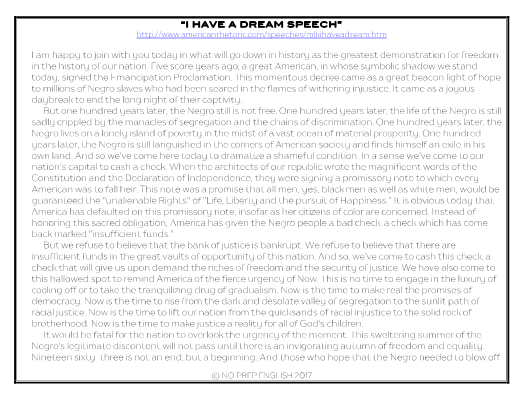 Martin Luther King I Have A Dream Speech Activity