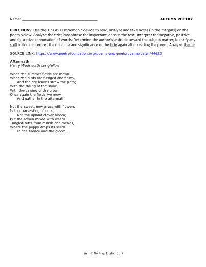 aftermath poem analysis longfellow