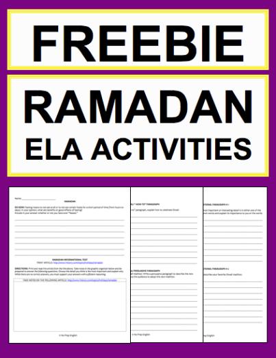 ramadan activities free student printables