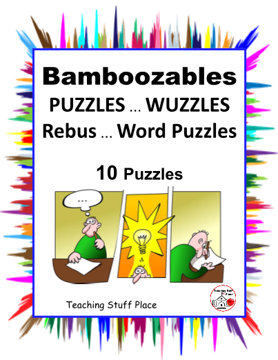 image about Printable Wuzzles With Answers named PUZZLES Bamboozables WUZZLES Rebus