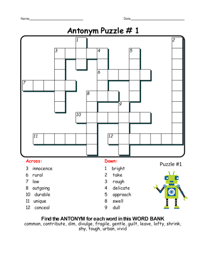 banks word puzzle example images