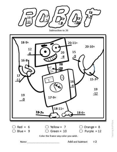Add And Subtract To 20 Worksheets Gr 1 Math