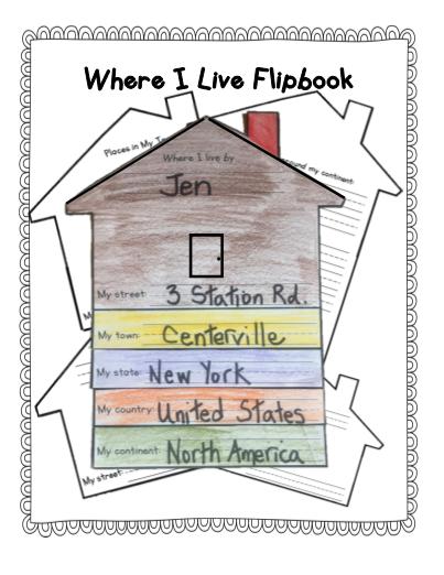 No Prep Where I Live Flipbook Tiny love where do i live. no prep where i live flipbook