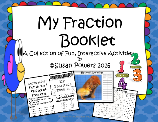 My fractions booklet review activity maxwellsz