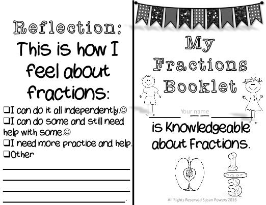My mini fraction booklet maxwellsz