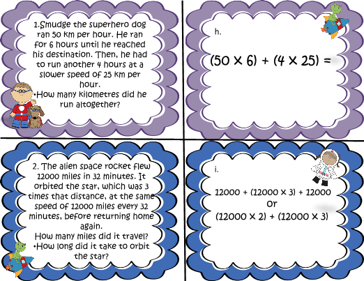 Math order of Operations Problem Solving Task Card