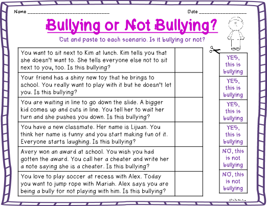 each community member should do their part to stop bullying Recognizing bullying in their bullying prevention and intervention to bully him and that you will stop it confer with staff members to determine any.