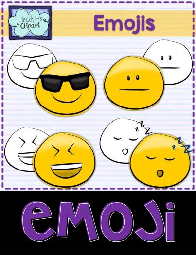 Emoji Smiley Faces Emoticons Clip Art Set 5