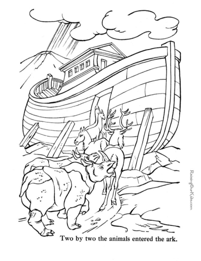 Printable Bible Coloring Page Noah S Ark
