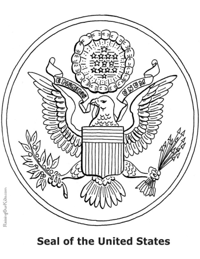 patriotic coloring page seal of united states