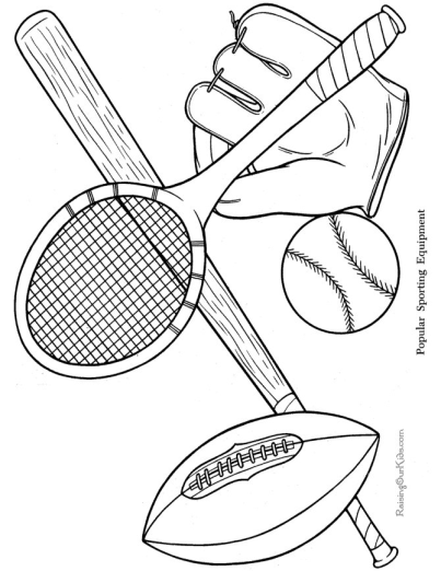 Printable Sports Coloring Page
