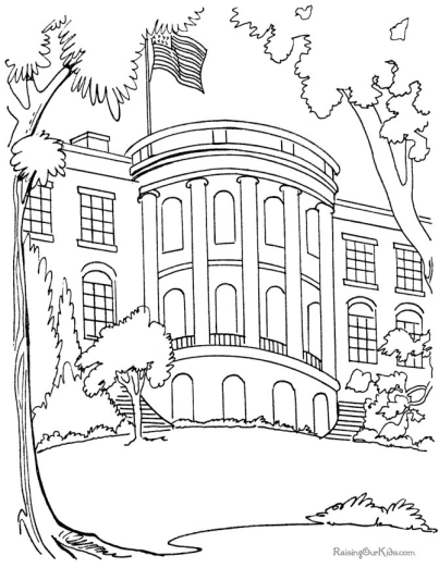 White House Coloring Pages I Teachersherpa - white house coloring page