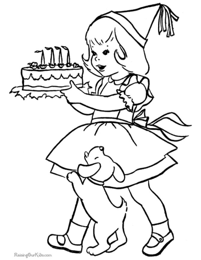 Birthday Coloring Pages I TeacherSherpa