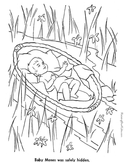 Printable Bible Coloring Page Moses