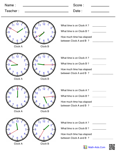 Time Worksheets With Answer Sheet I TeacherSherpa