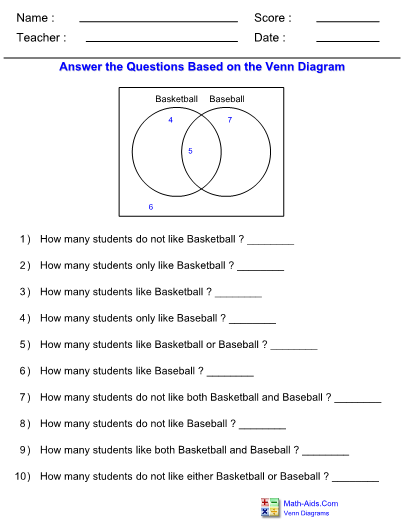 Examples Of Venn Diagram Problems With Answers Selol Ink