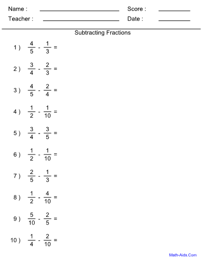math aids addition and subtraction