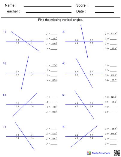 Vertical Worksheet