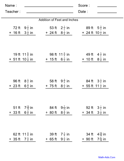 math worksheet : feet and inches worksheet : Feet To Inches Worksheet
