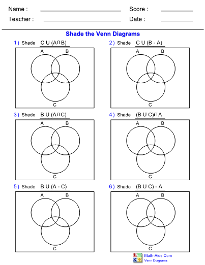 Venn Diagram Math Aids - Data Wiring Diagrams •