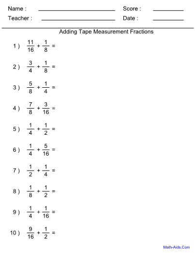Fraction Worksheets With Answer Sheet I Teachersherpa