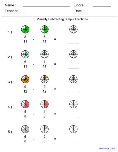 fraction worksheets with answer sheet i teachersherpa. Black Bedroom Furniture Sets. Home Design Ideas